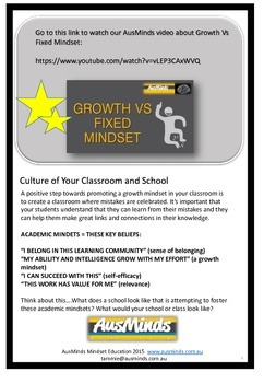 Junior School Foundation - 2 Growth Mindset Resource