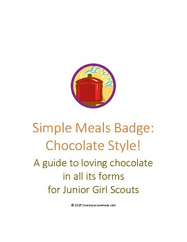 Junior Simple Meals Cooking Badge: Chocolate Style