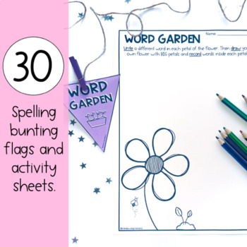 Junior Spelling Activity Bunting Pack - Years 1 and 2