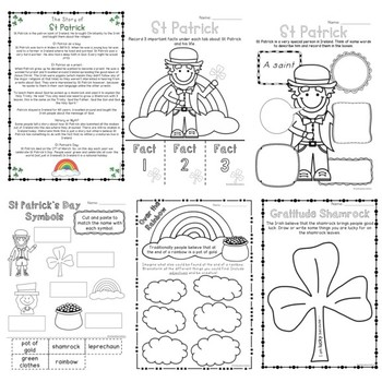 Junior St Patrick's Day Pack - Year 1 - 2