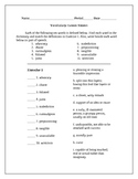 Vocabulary Packets 16-30