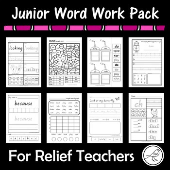 Junior Word Work Pack – For Relief Teachers