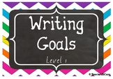 Junior Writing Goals Peg Display BUNDLE *** - Level 1, 2, 3