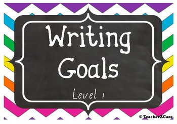 Junior Writing Goals Peg Display - Level 1