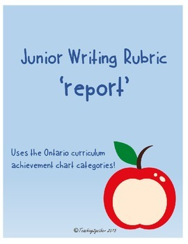 Junior Writing Rubric - Report