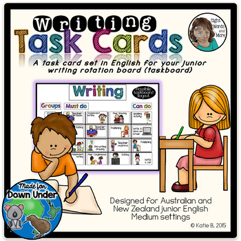 Junior Writing Task Cards for Downunder
