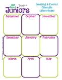 Junior Yearly Calendar Girl Scouts Editable Printable PDF