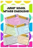 Junior Years Writing Checklists