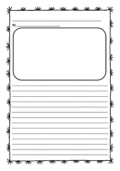 Junior writing publishing sheets with picture space (writing paper)