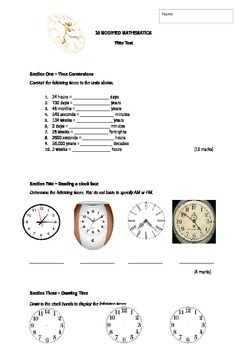 Junior/Modified Mathematics TIME Written Test