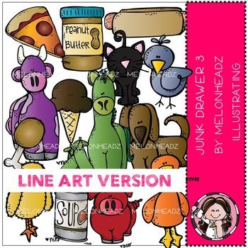 Melonheadz: Junk Drawer clip art Part 3 - LINE ART