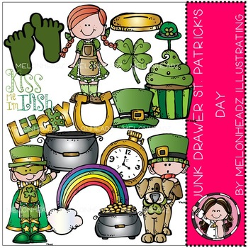 Melonheadz: Junk Drawer clip art - St. Patrick's Day - COMBO PACK