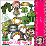 Junk Drawer clip art - St. Patrick's Day - BLACK AND WHITE- by Melonheadz