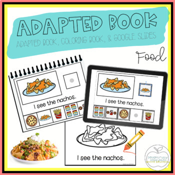 Junk Food Adapted Book & Student Book for Early Childhood Special Ed