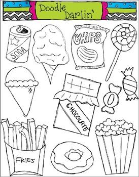 Junk Food BLACK & WHITE Set