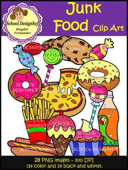Junk Food Clip Art (School Designhcf)