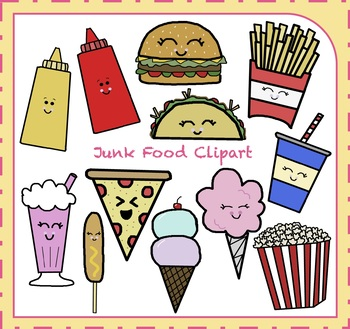 Junk Food Clipart / Fast Food Clipart {Food Clipart}