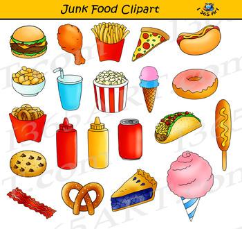 Junk Food Clipart Set