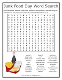 Junk Food Day Word Search Puzzle