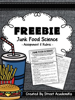 {FREE} Junk Food Science [Assignment + Rubric]