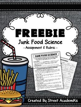 {FREE} Junk Food Experiment (+ Rubric)