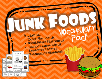 Junk and Fast Foods Flashcards and Vocabulary Activities