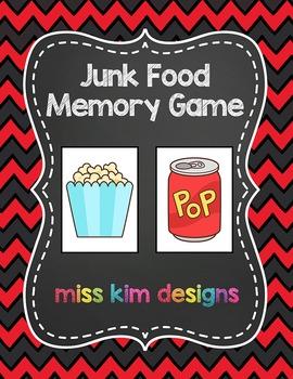 Junk Food Memory Game