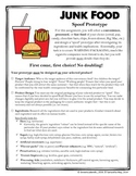Junk Food Spoof Prototype (+ Rubric)