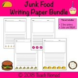 Junk Food Writing Paper Bundle