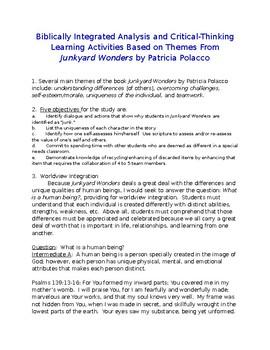 Junkyard Wonders: Biblically-Integrated Analysis and Learning Activities