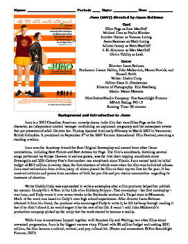 Juno Film (2007) Study Guide Movie Packet