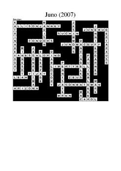 Film Studies: Juno (Movie) Crossword Puzzle