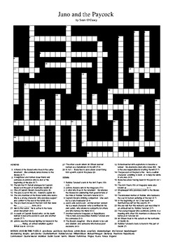 Juno and the Paycock - Review Crossword Puzzle