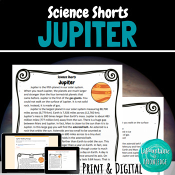 Jupiter Reading Comprehension Passage