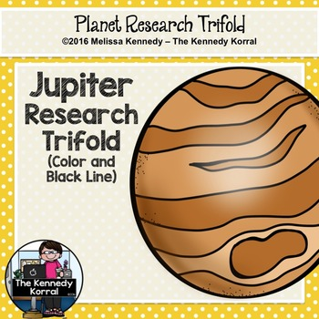 Jupiter Research Trifold {Space Research, Planets, Solar System}