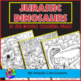 Jurassic Dinosaurs, Coloring Pages, Zen Doodles