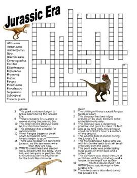 Jurassic Era Crossword