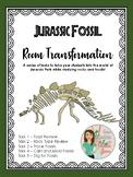 Jurassic Fossil Room Transformation: Fossils and Rocks Stations