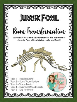 Jurassic Fossil Room Transformation: Fossils and Rocks Stations