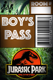 Jurassic Park Bathroom Pass (Boys)