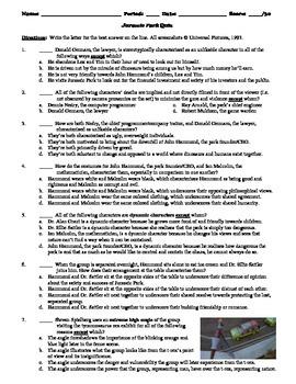 Jurassic Park Film (1993) 15-Question Multiple Choice Quiz