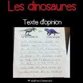 Texte d'opinion - Les dinosaures