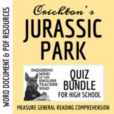 Jurassic Park Quiz Bundle (4 Subjective Quizzes & 2 Objective Alternatives)