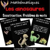 Les dinosaures - Problème de mots (soustraction)