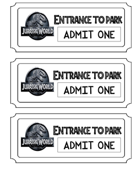 Jurassic World Admission Ticket