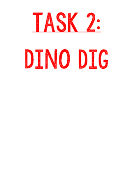 Jurassic World Task 2 of 4 - Dinosaur Dig - Digging for Fossils