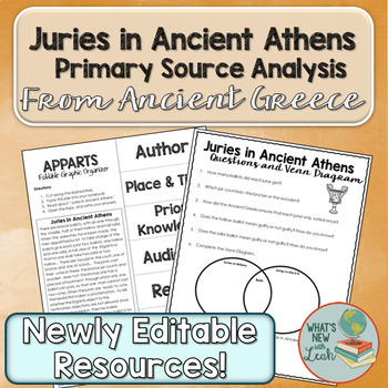 Juries In Ancient Athens Primary Source Analysis By Leah Cleary Tpt