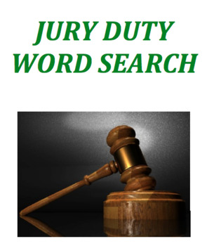 Jury Duty Word Search
