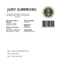 Jury Summons for Mock Trial