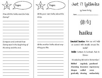 Just 17 Syllables Trifold - Open Court 5th Grade Unit 3 Lesson 5